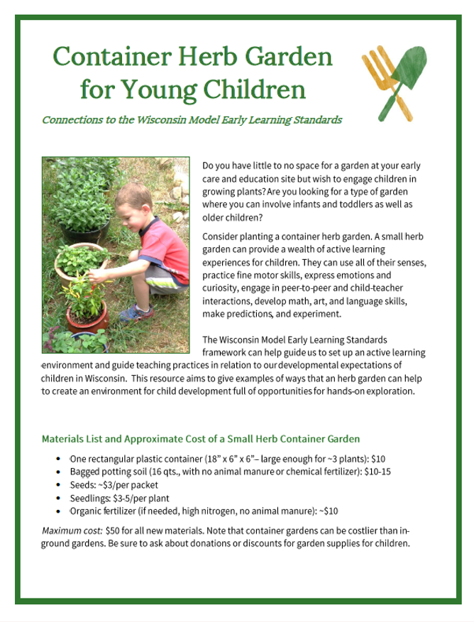 Farm to Early Care and Education | Community GroundWorks